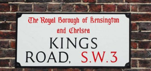 Chelsea kings road street sign
