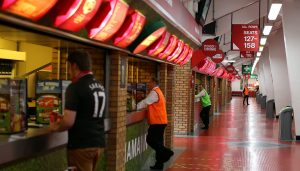 Food Area In Anfield Stadium