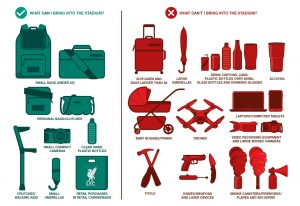 Permitted Items to Carry Into Anfield