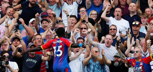 Crystal Palace - Fans at the Holmesdale Singing Section