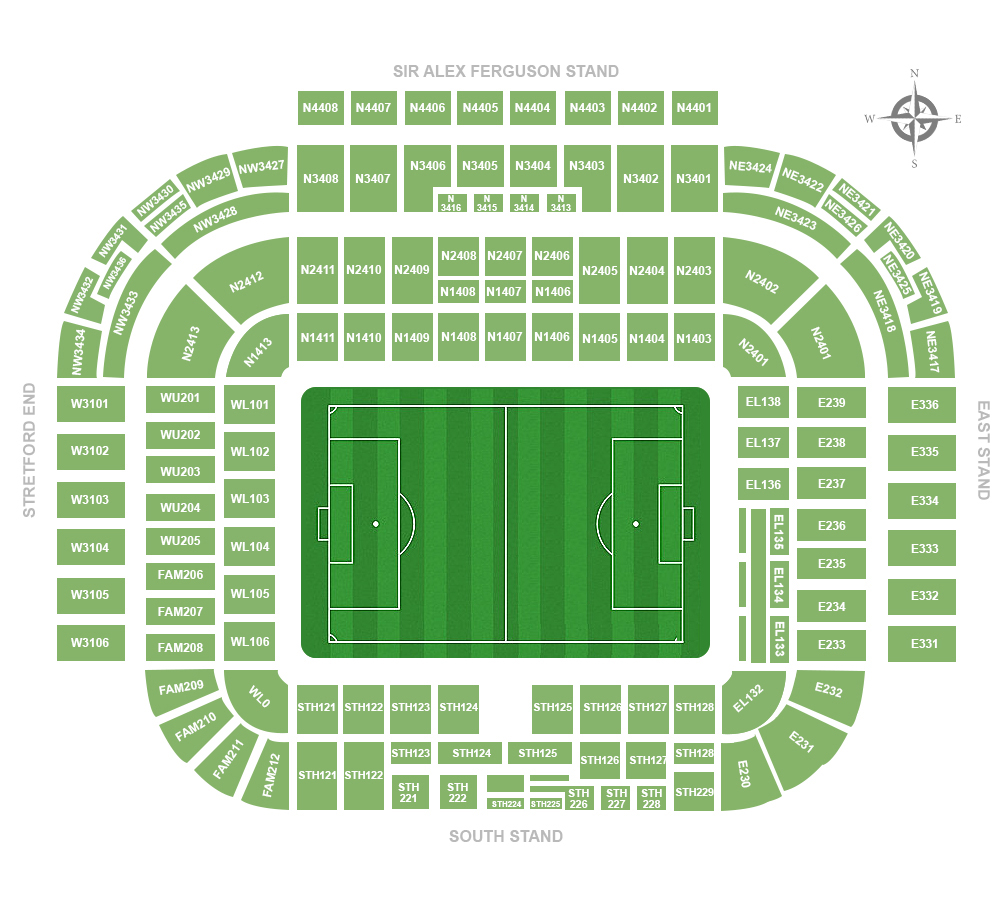 Old Trafford Seating Chart