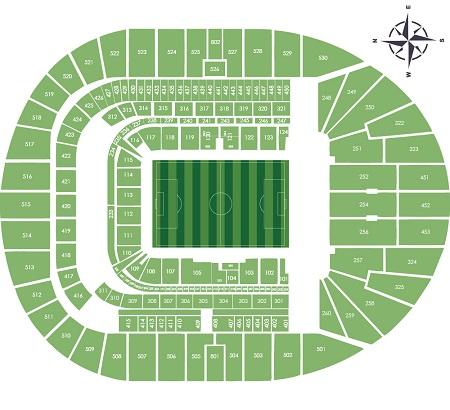 Tottenham Hotspur New Stadium Seating Plan