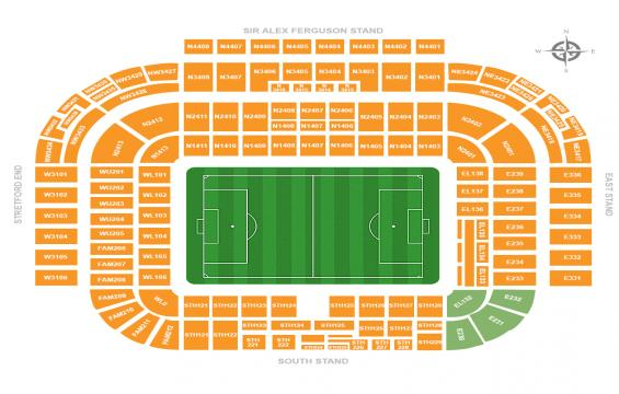 Image result for hospitality seats old trafford